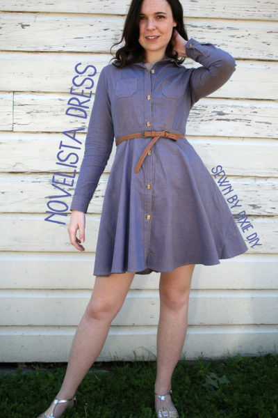 Novelista Shirt by Blank Slate Patterns turned into a shirtdress by Dixie DIY - Melly Sews