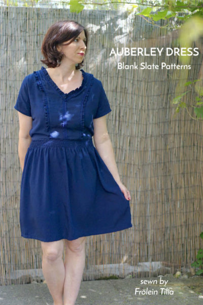 Auberley Dress by Blank Slate Patterns sewn by Frölein Tilia