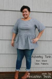 Auberley Tunic by Blank Slate Patterns sewn by Pincushion Treats