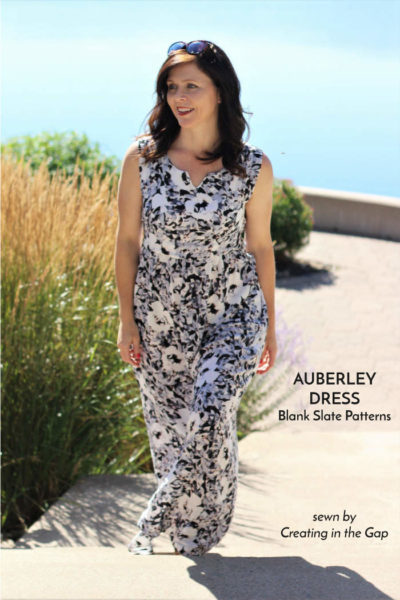Auberley Dress by Blank Slate Patterns sewn by Creating in the Gap