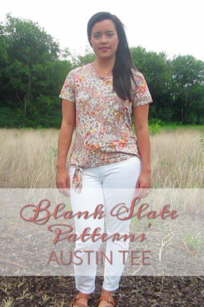 Austin Tee by Blank Slate Patterns sewn by Inside the Hem