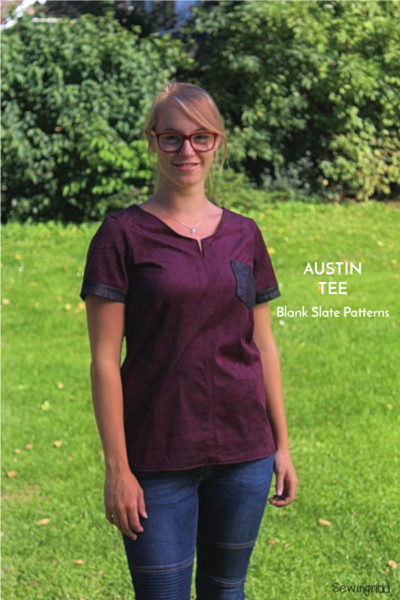 Austin Tee by Blank Slate Patterns sewn by Sewingridd