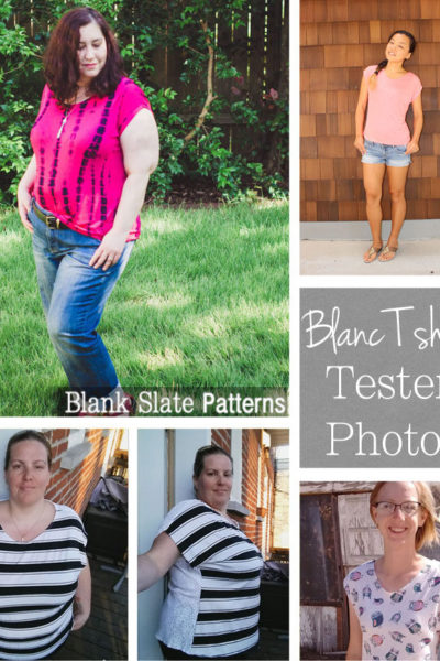 Tester version - Blanc T shirt sewing pattern by Blank Slate Patterns - FREE women's casual t shirt in sizes XXS-3X