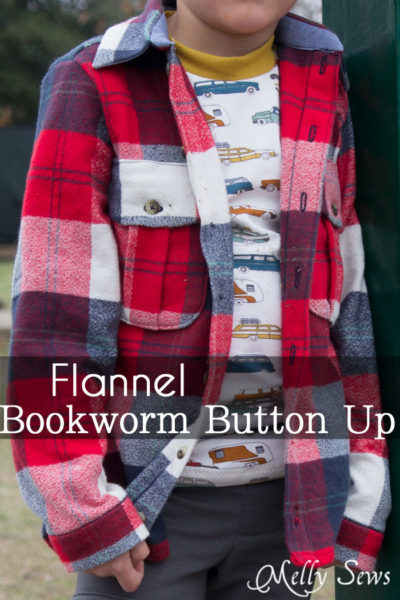 Bookworm Button Up by Blank Slate Patterns