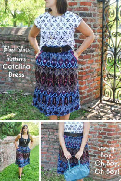 Catalina Dress by Blank Slate Patterns sewn by Boy, Oh Boy, Oh Boy!