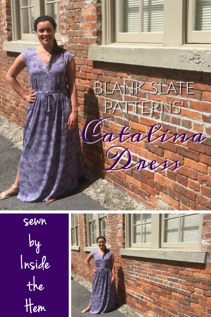 Catalina Dress by Blank Slate Patterns sewn by Inside the Hem