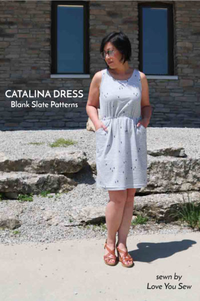 Catalina Dress by Blank Slate Patterns sewn by Love You Sew