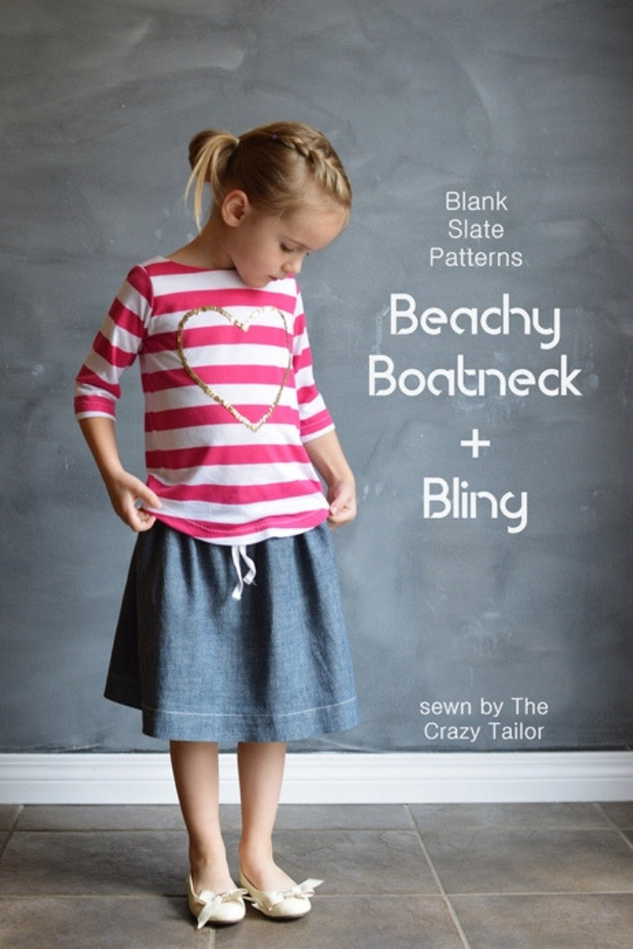 Beachy Boatneck by Blank Slate Patterns sewn by The Crazy Tailor
