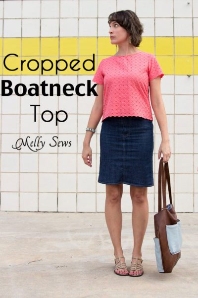 Cropped Boatneck Top by Blank Slate Patterns