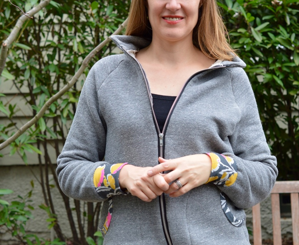 Zinnia Jacket by Blank Slate Patterns sewn by A Happy Stitch