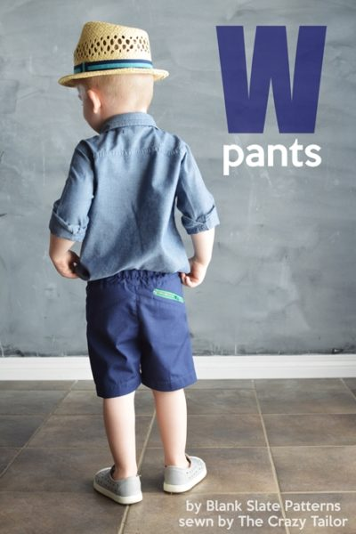 W Pants by Blank Slate Patterns sewn by The Crazy Tailor