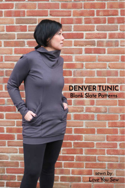 Denver Tunic by Blank Slate Patterns sewn by Love You Sew