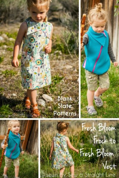 Fresh Bloom Frock to Vest by Blank Slate Patterns sewn by Sew A Straight Line