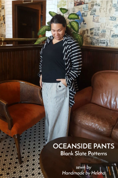 Oceanside Pants by Blank Slate Patterns sewn by Handmade by Helena