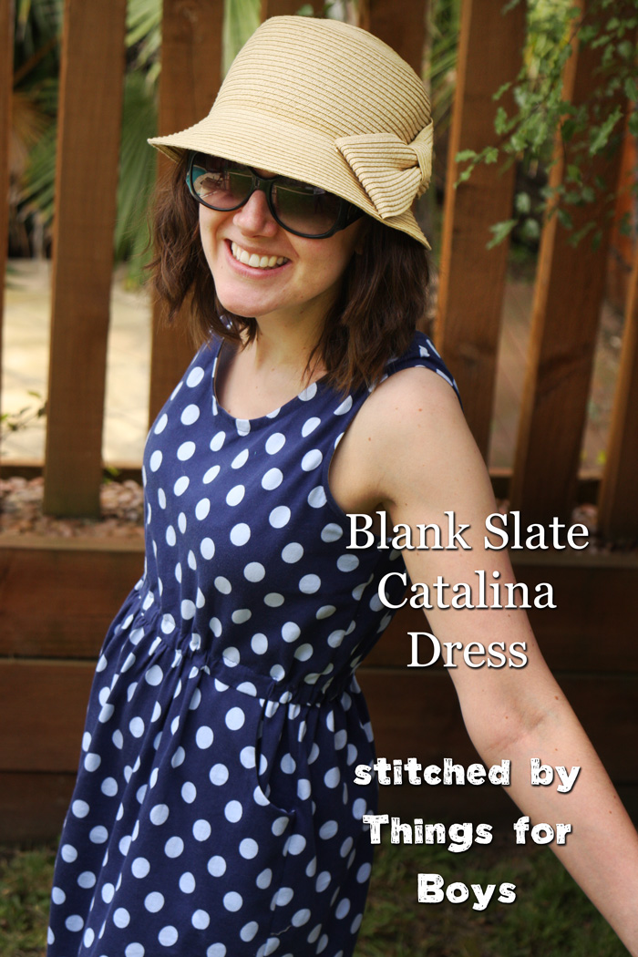 Catalina Dress by Blank Slate Patterns sewn by Things for Boys
