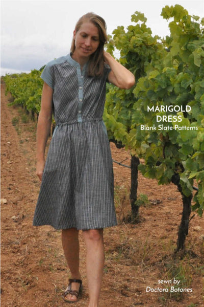 Marigold Dress by Blank Slate Patterns sewn by Doctora Botones