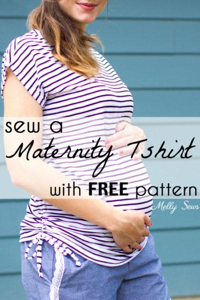 Maternity Blanc Tshirt by Blank Slate Patterns