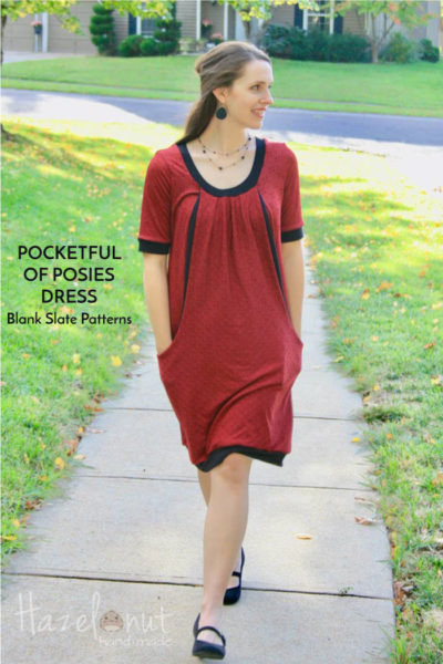 Pocket Full of Posies Dress by Blank Slate Patterns sewn by Hazelnut Handmade