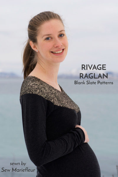 Rivage Raglan by Blank Slate Patterns sewn by Sew Mariefleur