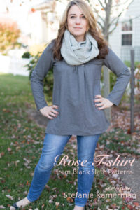 Rose T-shirt by Blank Slate Patterns sewn by Stefanie Kamerman