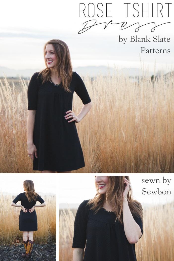 Rose T-shirt by Blank Slate Patterns sewn by Sewbon
