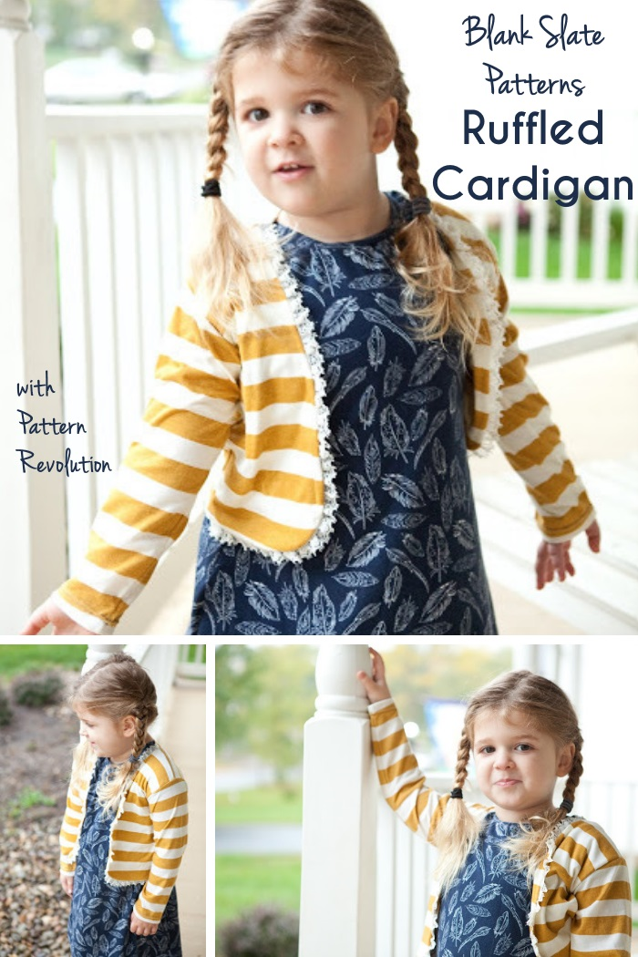Ruffled Cardigan by Blank Slate Patterns with Pattern Revolution