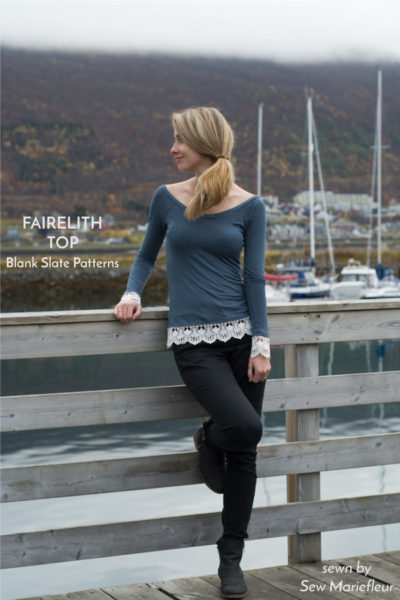 Fairelith Top by Blank Slate Patterns sewn by Sew Mariefleur