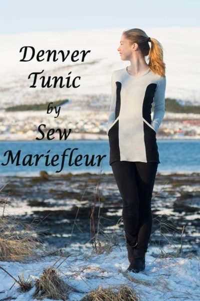 Denver Tunic by Blank Slate Patterns sewn by Sew Mariefleur