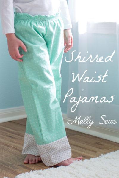 Shirred Pajama Pants by Melly Sews
