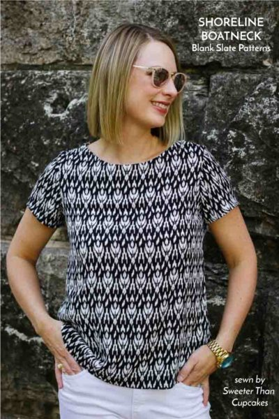 Shoreline Boatneck by Blank Slate Patterns sewn by Sweeter Than Cupcakes