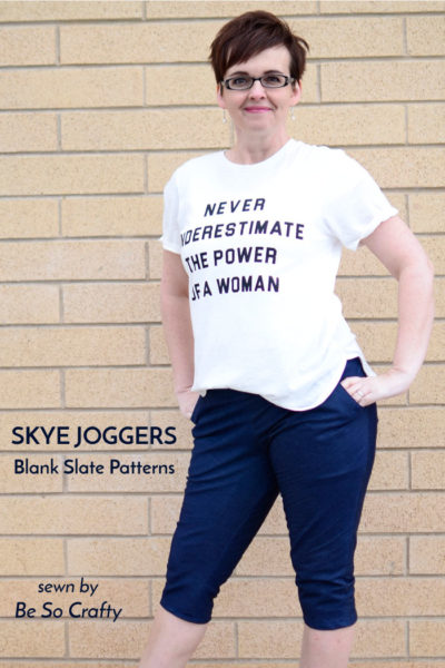 Skye Joggers by Blank Slate Patterns sewn by Be So Crafty