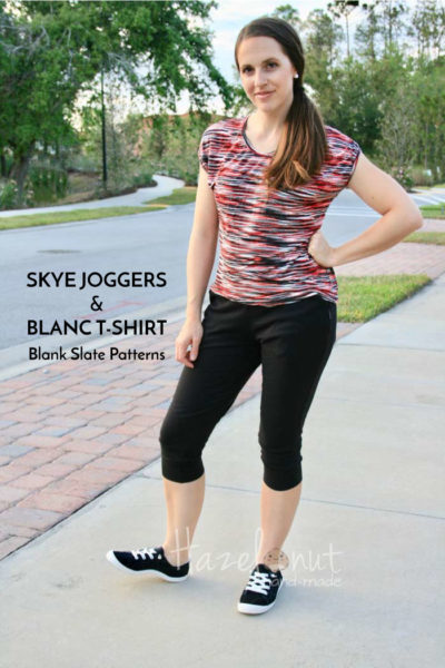 Skye Joggers by Blank Slate Patterns sewn by Hazelnut Handmade