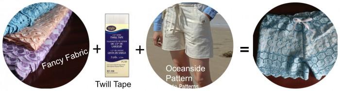 Oceanside Shorts by Blank Slate Patterns sewn by Little Kids Grow