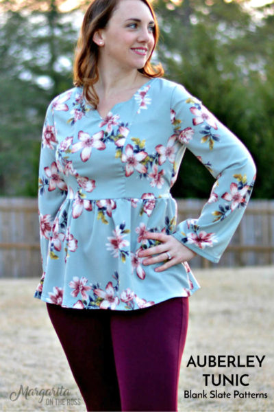 Auberley Tunic by Blank Slate Patterns sewn by Margarita on the Ross