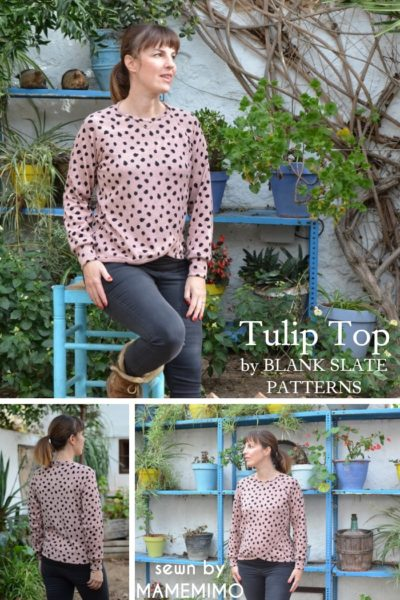 Tulip Top by Blank Slate Patterns sewn by MAMEMIMO