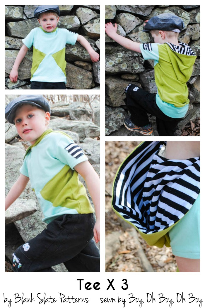 Colorblock Tutorial for Tee Times 3 by Blank Slate Patterns sewn by Boy, Oh Boy, Oh Boy