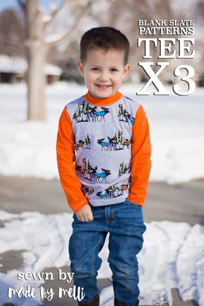 Tee X 3 by Blank Slate Patterns sewn by Made by Melli