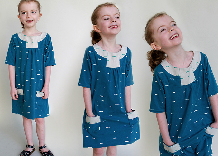Pristine Swing Dress by Blank Slate Patterns sewn by The Inspired Wren