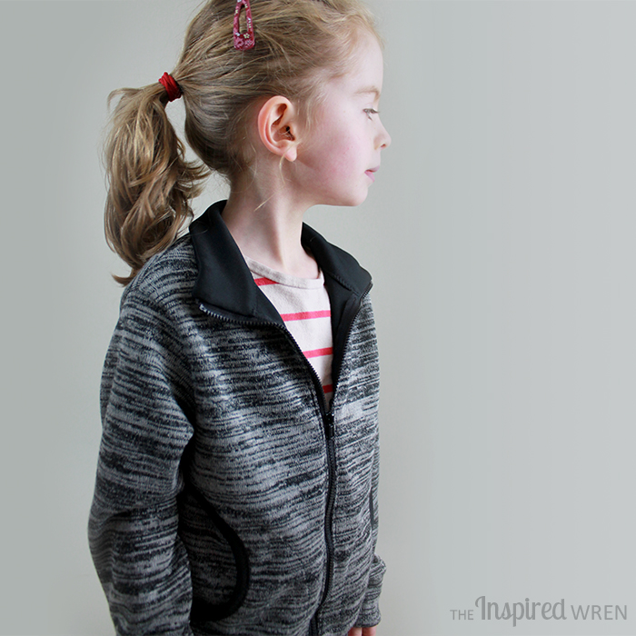 Zippy Jacket by Blank Slate Patterns sewn by The Inspired Wren