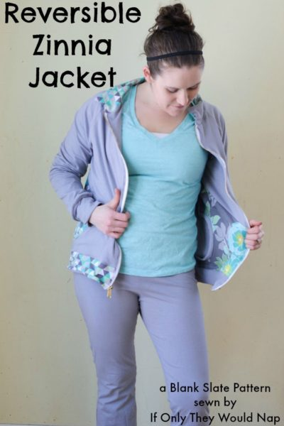 Zinnia Jacket by Blank Slate Patterns sewn by If Only They Would Nap