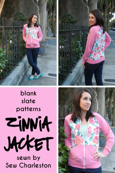 Zinnia Jacket by Blank Slate Patterns sewn by Sew Charleston
