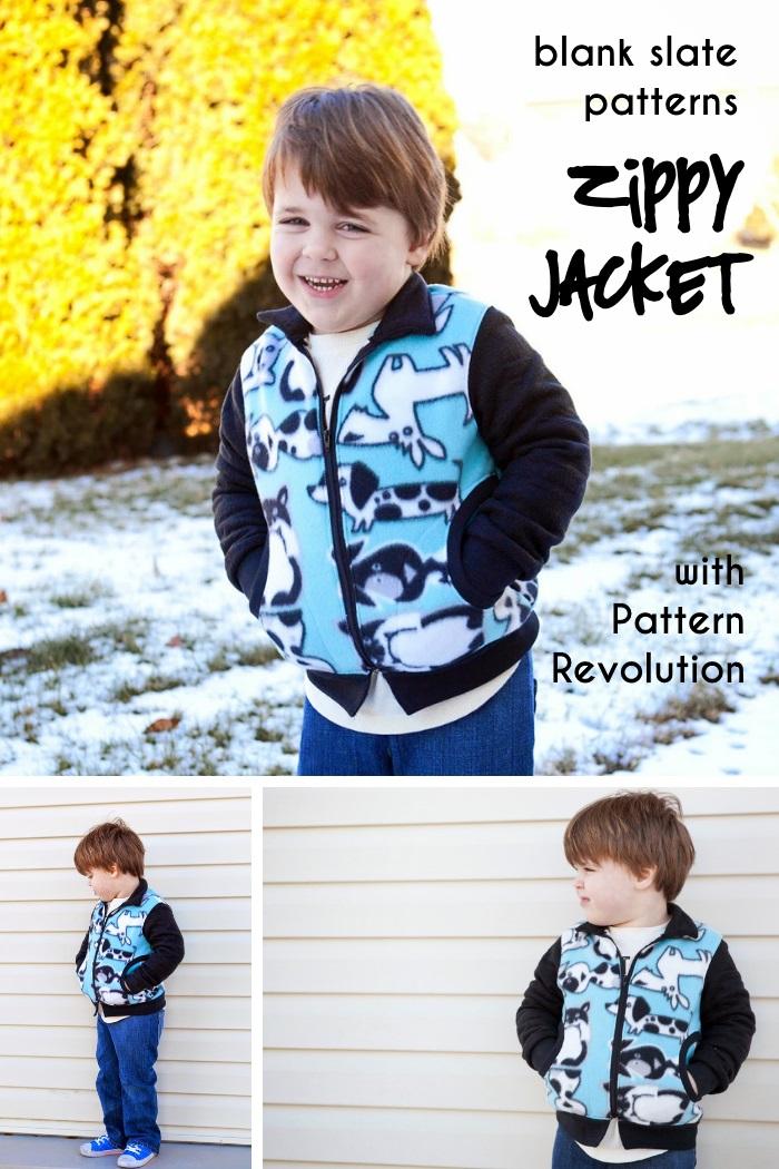 Zippy Jacket by Blank Slate Patterns with Pattern Revolution