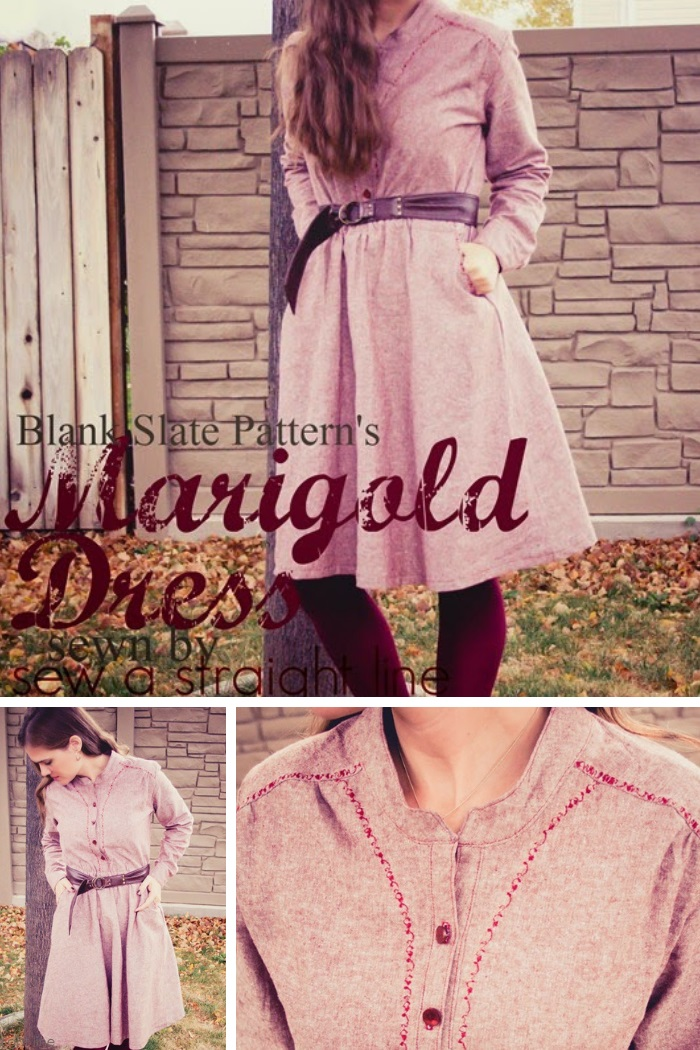 Marigold Dress by Blank Slate Patterns sewn by Sew a Straight Line