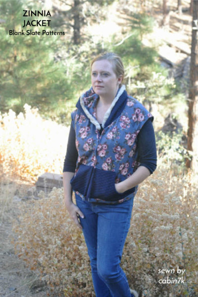Zinnia Vest by Blank Slate Patterns sewn by Cabin7k
