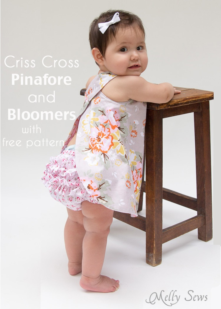 Free Baby Pinafore and Bloomers Pattern by Blank Slate Patterns
