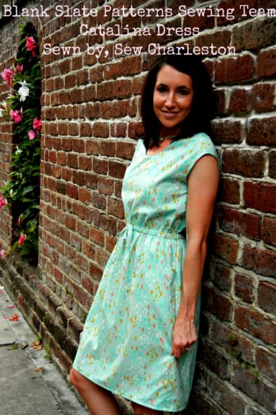 Cataline Dress by Blank Slate Patterns sewn by Sew Charleston