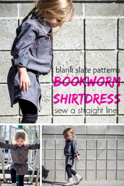 Bookworm Button Up by Blank Slate Patterns sewn by Sew a Straight Line