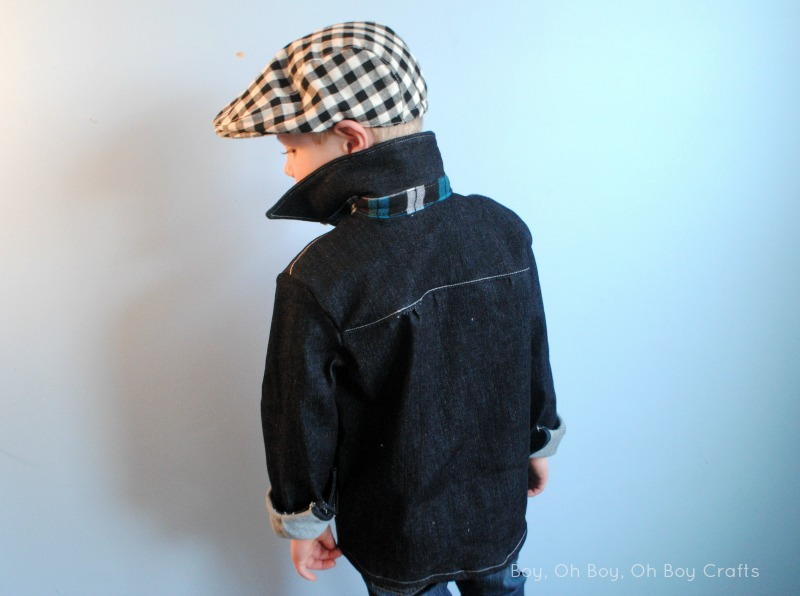 Bookworm Button Up by Blank Slate Patterns sewn by Boy, Oh Boy, Oh Boy