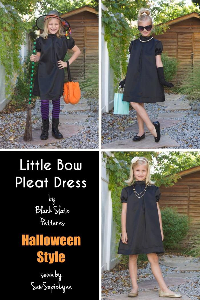 Little Bow Pleat Dress by Blank Slate Patterns sewn by Sew Sophie Lynn