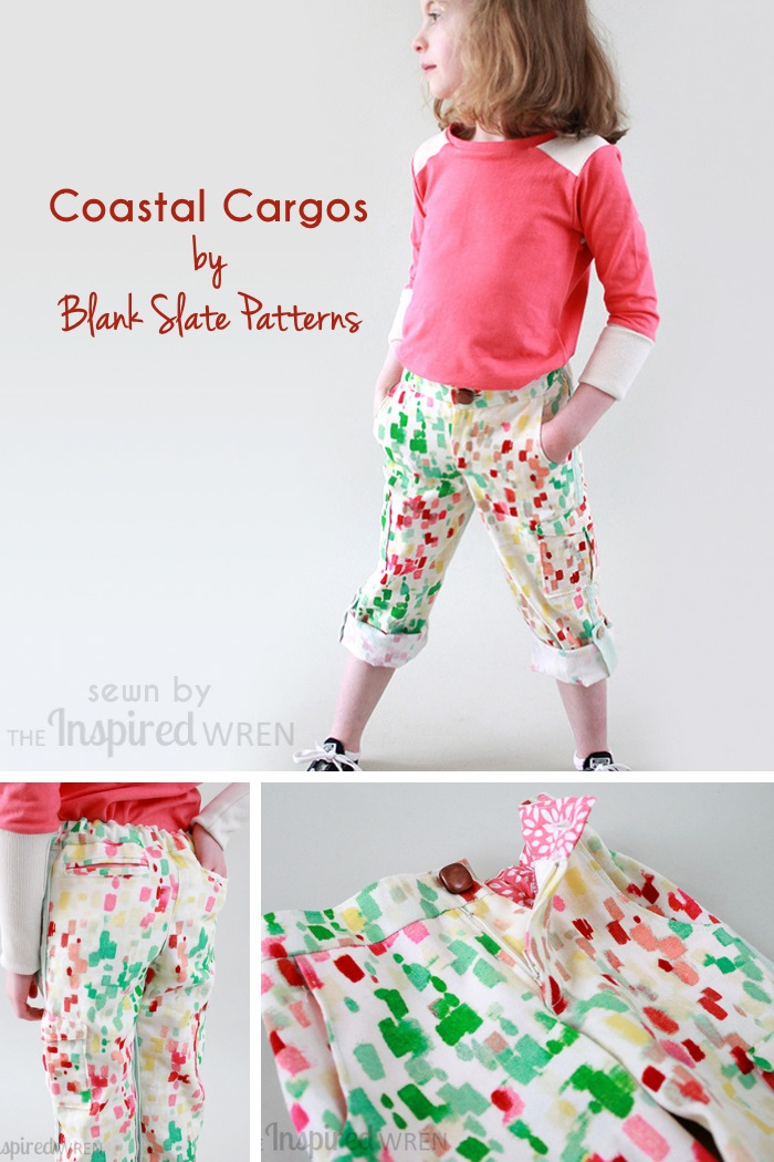 Coastal Cargos by Blank Slate Patterns sewn by The Inspired Wren